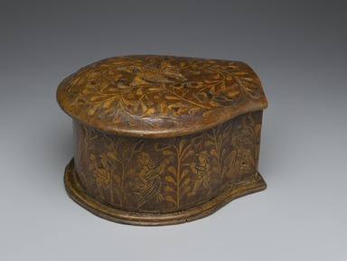 Coca-Leaf Box, 18th century. Wood with wood inlays, metal, and cloth, 5 1/2 x 7 1/8 x 8 7/8in. (14 x 18.1 x 22.5cm). Brooklyn Museum, Museum Expedition 1941, Frank L. Babbott Fund, 41.1275.7. Creative Commons-BY