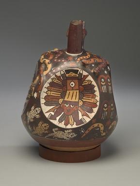 Nasca. Double-Spout, Bridge-Handle Vessel, 325-440. Ceramic, pigments, 9 1/4 x 7 x 6 1/4 in. (23.5 x 17.8 x 15.9 cm). Brooklyn Museum, Henry L. Batterman Fund, 41.423. Creative Commons-BY