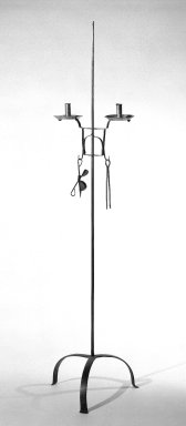 American. Tall Candle Stand. Iron Brooklyn Museum, Gift of Luke Vincent Lockwood, 41.708. Creative Commons-BY