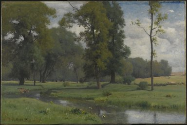 George Inness (American, 1825-1894). June, 1882. Oil on canvas, 30 1/8 x 45 1/4 in. (76.5 x 114.9 cm). Brooklyn Museum, Bequest of Mrs. William A. Putnam, 41.776