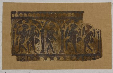 Coptic. Tapestry Woven Panel, 6th century C.E., probably. Flax, wool, 7 1/2 x 13 1/2 in. (19.1 x 34.3 cm). Brooklyn Museum, Gift of Pratt Institute, 41.796. Creative Commons-BY