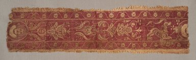 Coptic. Border with Floral Design, 5th-6th century C.E. Wool, flax, 12 x 3 in. (30.5 x 7.6 cm). Brooklyn Museum, Gift of Pratt Institute, 41.812. Creative Commons-BY