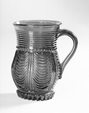 American. Mug with Applied Handle. Glass Brooklyn Museum, Gift of Arthur W. Clement, 41.836. Creative Commons-BY