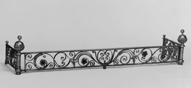 Unknown. Fender for Fireplace, ca. 1881. Brass, 15 x 35 1/8 x 17 1/2 in. (38.1 x 89.2 x 44.4 cm). Brooklyn Museum, Gift of Mrs. William E. S. Griswold in memory of her father, John Sloane, 41.980.15. Creative Commons-BY