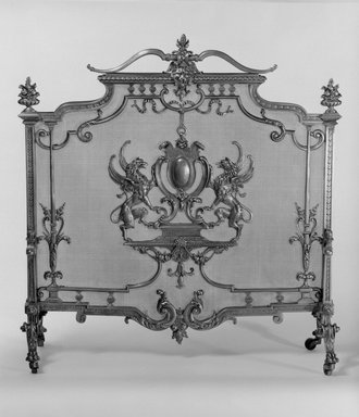 Herter Brothers (American, 1865-1905). Fire Screen, ca. 1881. Brass, 32 13/16 x 31 1/2 x 11 1/2 in. (83.3 x 80 x 29.2 cm). Brooklyn Museum, Gift of Mrs. William E. S. Griswold in memory of her father, John Sloane, 41.980.16. Creative Commons-BY