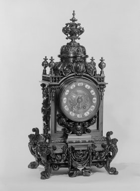 Herter Brothers (American, 1865-1905). Clock, Part of a Three Piece Garniture, ca. 1881. Brass, 30 1/2 x 15 x 11 1/2 in. (77.5 x 38.1 x 29.2 cm). Brooklyn Museum, Gift of Mrs. William E. S. Griswold in memory of her father, John Sloane, 41.980.17.1. Creative Commons-BY