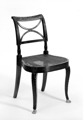 Duncan Phyfe (1768-1854). Side Chair. Mahogany Brooklyn Museum, Anonymous gift, 42.118.10. Creative Commons-BY