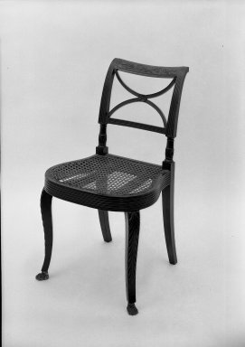 Duncan Phyfe (1768-1854). Side Chair. Mahogany Brooklyn Museum, Anonymous gift, 42.118.8. Creative Commons-BY