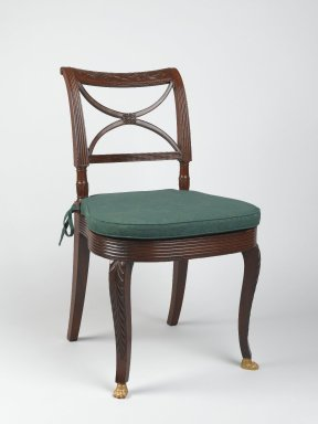 Duncan Phyfe (1768-1854). Side Chair. Mahogany Brooklyn Museum, Anonymous gift, 42.118.9. Creative Commons-BY