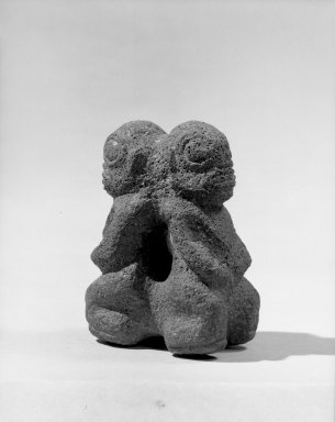 Marquesan. Double Figure (Tiki Ke'a). Stone, 4 1/8 x 3 1/8 in. (10.5 x 8 cm). Brooklyn Museum, A. Augustus Healy Fund, 42.211.111. Creative Commons-BY