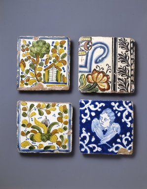 Tile, mid-19th century. Ceramic: glazed, 4 3/4 x 4 3/4 x 1/2in. (12.1 x 12.1 x 1.3cm). Brooklyn Museum, Museum Expedition 1942, Frank L. Babbott Fund, 42.235.1. Creative Commons-BY