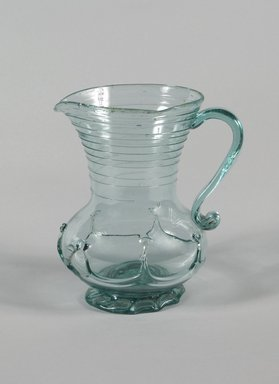 American. Pitcher, ca.1820. Blown glass, 7 3/8 in. (18.7 cm). Brooklyn Museum, Dick S. Ramsay Fund, 42.24. Creative Commons-BY