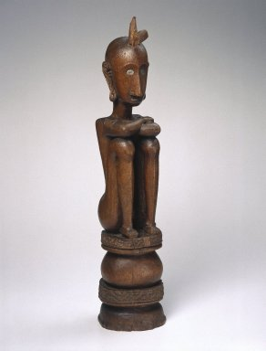 Ancestor Figure (Iene), early 20th century. Wood, pigment, 22 7/8 x 4 7/8 x 5 in. (58.1 x 12.4 x 12.7 cm). Brooklyn Museum, Charles Stewart Smith Memorial Fund, 42.338. Creative Commons-BY