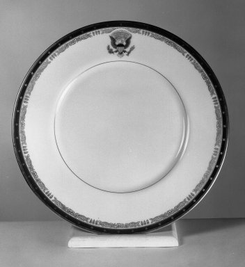 American. Plate, 1934. Porcelain, Diam.: 11 3/8 in. (28.9 cm). Brooklyn Museum, Gift of Lenox Incorporated, 42.347. Creative Commons-BY