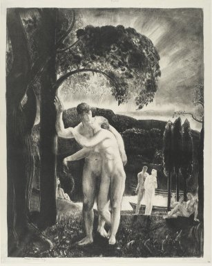 George Wesley Bellows (American, 1882-1925). Amour, 1923. Lithograph on off-white, medium thick, smooth textured wove paper, Sheet: 19 x 15 3/16 in. (48.3 x 38.6 cm). Brooklyn Museum, Gift of Mrs. Luke Vincent Lockwood, 42.34. © Bellows Trust