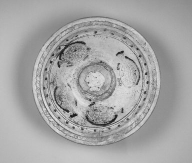Brooklyn Museum: Large Dish Depicting Fish