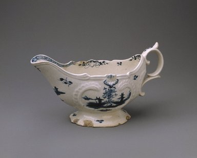 Gousse Bonnin. Sauce Boat, 1771-1772. Porcelain, with handle: 4 1/8 x 3 1/2 x 7 1/2 in. (10.5 x 8.9 x 19.1 cm). Brooklyn Museum, Dick S. Ramsay Fund, 42.412. Creative Commons-BY
