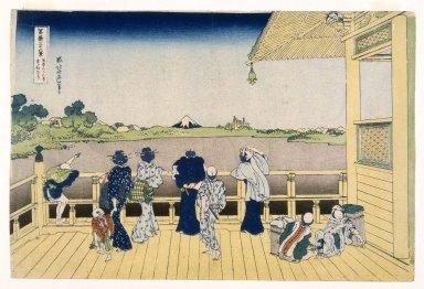 Katsushika Hokusai (Japanese, 1760-1849). Fuji from the Platform of Sasayedo, 19th century. Print, 10 1/16 x 15 1/16 in. (25.5 x 38.3 cm). Brooklyn Museum, Gift of Frederic B. Pratt, 42.77