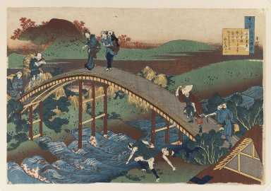 Katsushika Hokusai (Japanese, 1760-1849). Illustration from The Hundred Poems Series, 19th century. Woodblock color print, 10 3/16 x 15 1/16 in. (25.8 x 38.2 cm). Brooklyn Museum, Gift of Frederic B. Pratt, 42.80