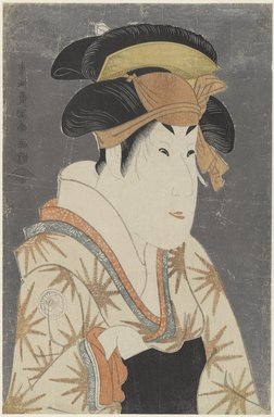 Toshusai Sharaku (Japanese, active 1794-1795). Segawa Kikunojo III as Oshizu, Wife of Tanabe Bunzo, May 1794. Color woodblock print, 14 7/8 x 9 1/4 in. (37.8 x 23.5 cm). Brooklyn Museum, Gift of Frederic B. Pratt, 42.83