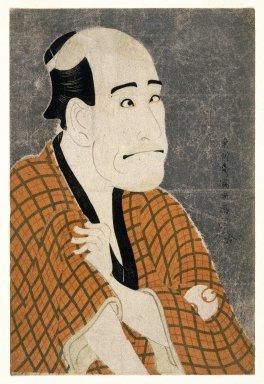Toshusai Sharaku (Japanese, active 1794-1795). Arashi Ryuzo as Ishibe Kinkichi, the Moneylender, 1794-5. Woodblock color print, 14 5/8 x 9 3/4 in. (37.1 x 24.7 cm). Brooklyn Museum, Gift of Frederic B. Pratt, 42.84