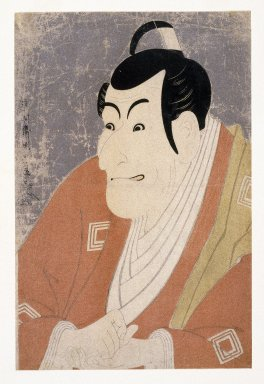 Toshusai Sharaku (Japanese, active 1794-1795). Ichikawa Ebizo as Takemura Sadanoshin, 1794/5. Woodblock color print, 14 3/8 x 9 7/16 in. (36.5 x 24 cm). Brooklyn Museum, Gift of Frederic B. Pratt, 42.85