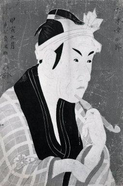 Toshusai Sharaku (Japanese, active 1794-1795). Matsumoto Koshiro IV as Gorobei, the Fishmonger from San-ya, 5/1794. Woodblock color print, 14 5/16 x 9 3/4 in. (36.4 x 24.8 cm). Brooklyn Museum, Gift of Frederic B. Pratt, 42.86