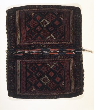 Double Saddle Bag (Khorjin), 19th century. Wool, Dims 2005: 55 x 45 in. (139.7 x 114.3 cm). Brooklyn Museum, Gift of Alvin Devereux
