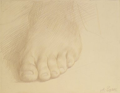 Alphonse Legros (French, 1837-1911). Study of a Foot, n.d. Metal point on heavy wove paper, Sheet: 5 x 6 5/8 in. (12.7 x 16.8 cm). Brooklyn Museum, Gift of J. Oettinger, 43.117.1