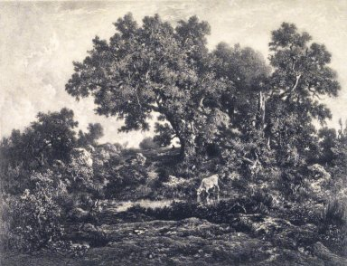 Jules Joseph Augustin Laurens (French, 1825-1901). Landscape. Lithograph on China paper laid down on heavy mount, 10 5/8 x 14 3/4 in. (27.0 x 37.5 cm). Brooklyn Museum, Gift of J. Oettinger, 43.117.9