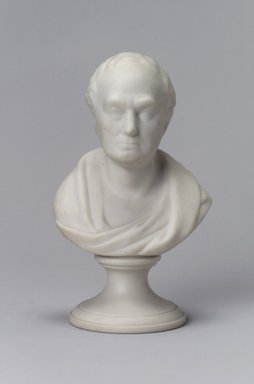 Attributed to Josiah Jones. Bust, 1849-1856. Unglazed porcelain, 5 1/4 x 3 1/4 x 2 1/4 in. (13.3 x 8.3 x 5.7 cm). Brooklyn Museum, Gift of Arthur W. Clement, 43.128.136. Creative Commons-BY