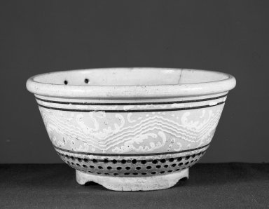 American. Colander. Glazed yellow-ware Brooklyn Museum, Gift of Arthur W. Clement, 43.128.139. Creative Commons-BY