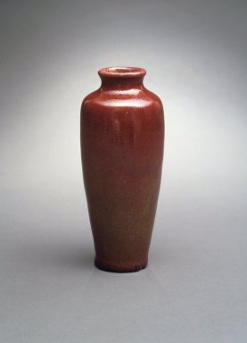 Chelsea Keramic Art Works. Vase, Trial Piece, ca. 1884. Stoneware, 7 1/8 x 2 in. (18.1 x 5.1 cm). Brooklyn Museum, Gift of Arthur W. Clement, 43.128.154. Creative Commons-BY