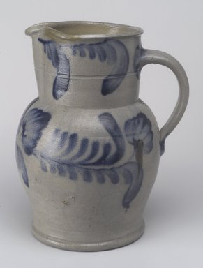 Pitcher, ca. 1872. Stoneware, 10 3/4 x 8 7/8 x 7 1/4 in. (27.3 x 22.5 x 18.4 cm). Brooklyn Museum, Gift of Arthur W. Clement, 43.128.188. Creative Commons-BY