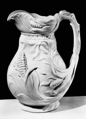 Bennington Pottery and Porcelain Factory. Pitcher, ca. 1850. Parian ware, 9 x 6 in. (22.9 x 15.2 cm). Brooklyn Museum, Gift of Arthur W. Clement, 43.128.189. Creative Commons-BY