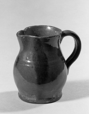 American. Cream Pitcher, 19th century. Red earthenware, 3 5/8 in. (9.2 cm). Brooklyn Museum, Gift of Arthur W. Clement, 43.128.191. Creative Commons-BY