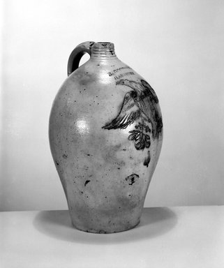 Daniel Goodale. Jug, ca. 1818-1830. Stoneware, 15 x 9 1/2 x 9 1/2 in. (38.1 x 24.1 x 24.1 cm). Brooklyn Museum, Gift of Arthur W. Clement, 43.128.19. Creative Commons-BY