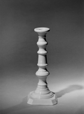 attributed to Charles Cartlidge & Co. (1848-1856). Candlestick, mid 19th century. Porcelain, 9 1/4 x 3 7/8 in. (23.5 x 9.8 cm). Brooklyn Museum, Gift of Arthur W. Clement, 43.128.200. Creative Commons-BY