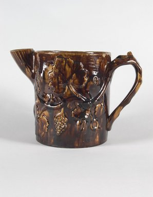 Pitcher. Earthenware, Rockingham glaze, 7 1/2 in. (19 cm). Brooklyn Museum, Gift of Arthur W. Clement, 43.128.29. Creative Commons-BY