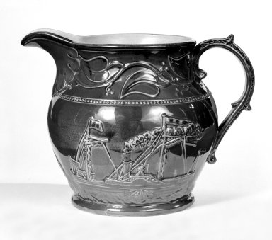 American. Pitcher. Earthenware, rockingham glaze, 7 7/8 in. (20 cm). Brooklyn Museum, Gift of Arthur W. Clement, 43.128.37. Creative Commons-BY