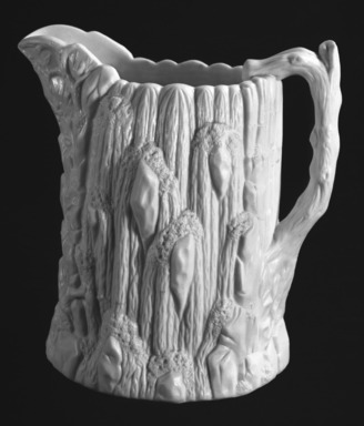 "United States Pottery Company. ""Niagara Falls"" Pitcher, ca. 1855. Porcelain, Height: 8 1/4 in. (21 cm). Brooklyn Museum, Gift of Arthur W. Clement, 43.128.56. Creative Commons-BY"