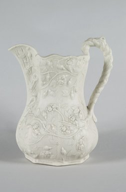 Fenton Minerva Works. Pitcher, 1847-1848. Parian ware, 10 1/4 in. (26 cm). Brooklyn Museum, Gift of Arthur W. Clement, 43.128.57. Creative Commons-BY