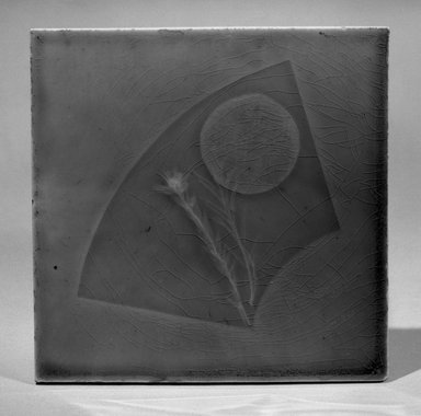 Tile, 1883-1887. Earthenware, lead glaze, 6 x 6 in. (15.2 x 15.2 cm). Brooklyn Museum, Gift of Arthur W. Clement, 43.128.64