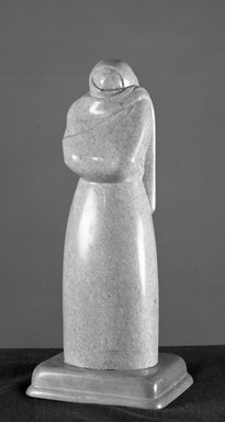 Donal Hord (American, 1902-1966). Veiled Figure, ca. 1930s. Marble, 15 1/2 x 4 1/2 x 3 1/4 in. (39.4 x 11.4 x 8.3 cm). Brooklyn Museum, Courtesy of the Fine Arts Program, U.S. General Services Administration, 43.145