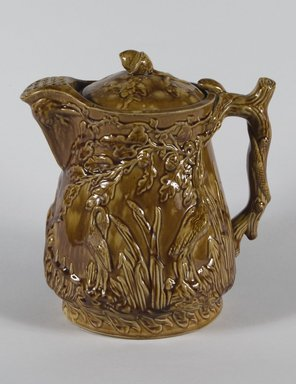 Pitcher. Earthenware, 11 in. (28 cm). Brooklyn Museum, Gift of Mrs. J. Joseph Noble, 43.153. Creative Commons-BY