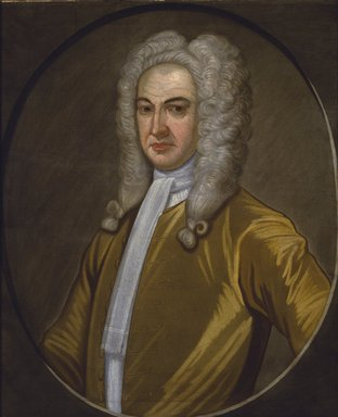 John Watson (American, 1685-1768). Governor Lewis Morris, ca. 1726. Oil on linen, 30 1/16 x 25 in. (76.3 x 63.5 cm). Brooklyn Museum, Purchased with funds given by John Hill Morgan, Dick S. Ramsay Fund, and Museum Collection Fund, 43.196