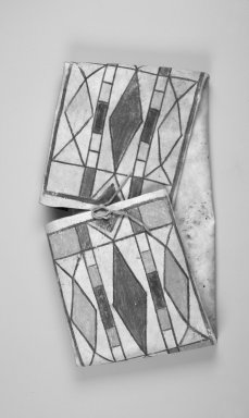 Crow (Native American). Parfleche Bag, late 19th-early 20th century. Hide, pigment, 25 x 14 x 2 1/2 in. (63.5 x 35.6 x 6.4 cm). Brooklyn Museum, Anonymous gift in memory of Dr. Harlow Brooks, 43.201.156. Creative Commons-BY