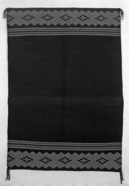 Navajo (Native American). Dress, in 2 Parts, 19th century. Wool, 48 1/2 x 34 1/4 in. (123.5 x 87.0 cm). Brooklyn Museum, Anonymous gift in memory of Dr. Harlow Brooks, 43.201.188a-b. Creative Commons-BY