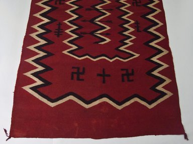 Navajo (Native American). Blanket, late 19th century. Wool, dye, 55 x 94 in. (140.0 x 138.0 cm). Brooklyn Museum, Anonymous gift in memory of Dr. Harlow Brooks, 43.201.189. Creative Commons-BY