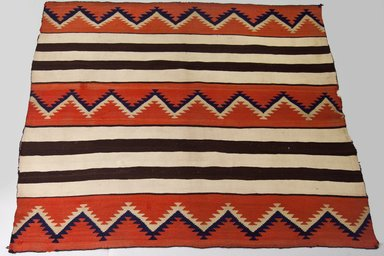 Navajo (Native American). Blanket, 1880-1890. Wool, dye, 54 5/16 x 66 15/16 in. (138 x 170 cm). Brooklyn Museum, Anonymous gift in memory of Dr. Harlow Brooks, 43.201.190. Creative Commons-BY